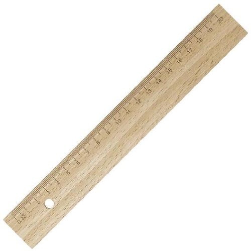 Lineal 20 cm Holz