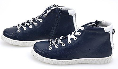 Bikkembergs ,  Jungen Lauflernschuhe Sneakers, BLU/Bianco - BLU/White - Größe: 34 EU