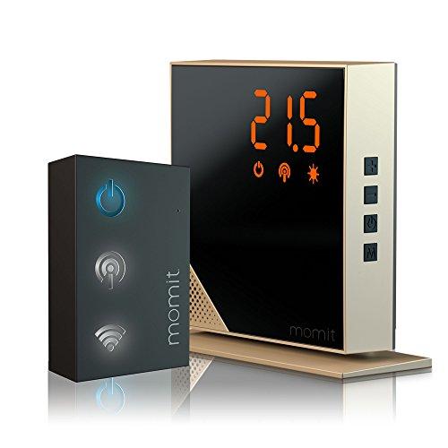 Momit Home Termostato Digitale Wi-Fi, Oro