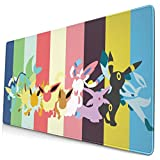 Anime Po-Ke_Mon Eevee Gaming Mouse Pad Non-Slip Rubber Funny Cute Mat for Office and Gift 400x750mm(16x30in)