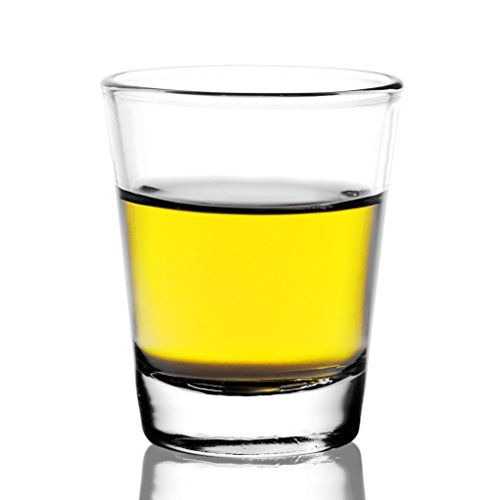 REATR Tequila Shot Trinkgläser Schnapsglas Barware Standard Clear Schnapsgläser - Vodka, Sambuca, Rum, Likör, Whisky Shooter Mini Glasbecher Bleifrei Stamper Shotglas Gläser Schnaps(56ml, 2oz)
