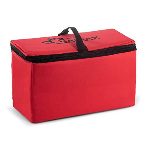 Preisvergleich Produktbild SAMAX Kühltasche Isoliertasche Kühlbox für Bollerwagen Offroad 42x19x24 cm Thermotasche Camping Faltbar - Rot