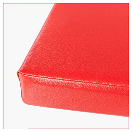 Cojín para Banco Acolchado Cojín de banco resistente al agua para exteriores Cojín de banco de jardín de 2 y 3 plazas para muebles de jardín, patio, cocina, interior y exterior -Rojo 110×35×5cm