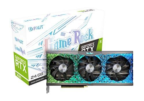 Palit GeForce RTX 3090 GameRock 24GB GDDR6X Grafikkarte mit ARGB SYNC, Angel ARGB, 10496 Core, 1395MHz GPU, 1740MHz Boost, 3X DisplayPort, HDMI, Dual BIOS, 0dB Tech
