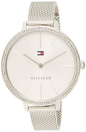 Tommy Hilfiger Damen Analoger Quarz Uhr mit Edelstahl Armband 1782113