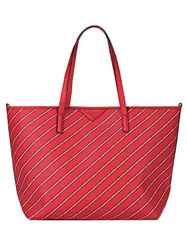 KARL LAGERFELD, Sac à bandoulière, femme, PVC, rouge, 55 x 45 x 17 cm