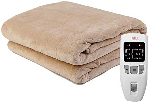 Blanket Cobija eléctrica Doble sin radiación, Impermeable, Interruptor automático Inteligente de 12...