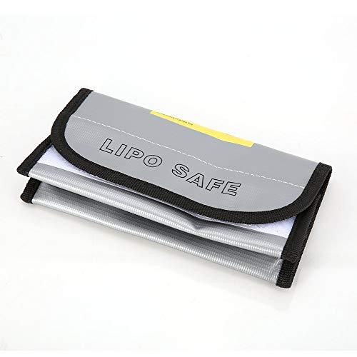 QiKun-Home Bolsa de batería LiPo Retardante de Fuego Bolsa de Caja de Carga de protección Segura LiPo Bolsa de Saco Incombustible a Prueba de explosiones para RC Modelo Drone Coche Plata