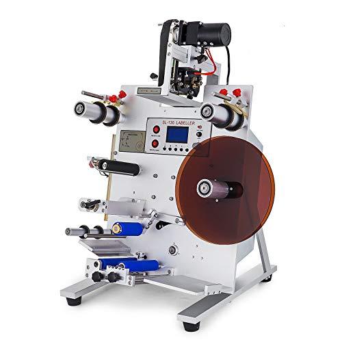Hanchen Automatique Bouteille Ronde Tiqueteuse Labeler Imprimante Avec Date de Codage Machine SL-130