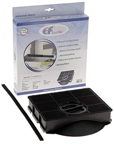 Euro Filter FKS189 Filtre hotte charbon actif type 303 214 x 208 H 40 mm Aeg Ariston Balay Bauknect Electrolux Elica Falmec Ikea Smeg Whirpool Eurofilter
