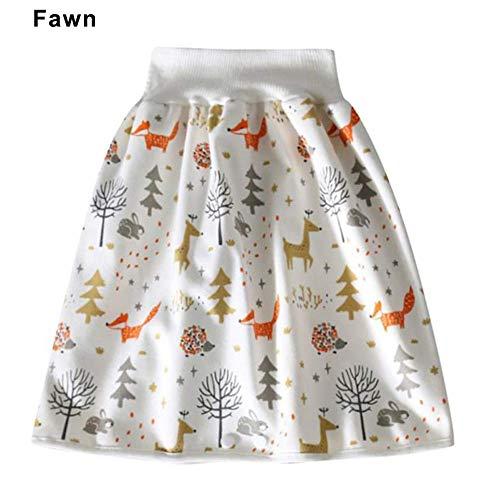 CJFHBVUQ Falda de pañales para bebé, Pantalones Cortos de entrenamiento de Algodón, 2 en 1, impermeables, reutilizables, para Niños y Niñas q1