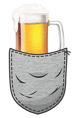 Bier in der Bursttasche Lustige Bier Sprüche: DIN A5 Dotted Gepunktet 120 Seiten / 60 Blätter Notizbuch Notizheft Notiz-Block Bier Craft Beer Saufen JGA Trinken Mallorca Motive
