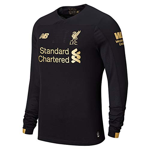 Liverpool FC Home Kit 2019/2020 Black Long Sleeve Polyester Boys SoccerGoalkeeper Jersey LFC Official