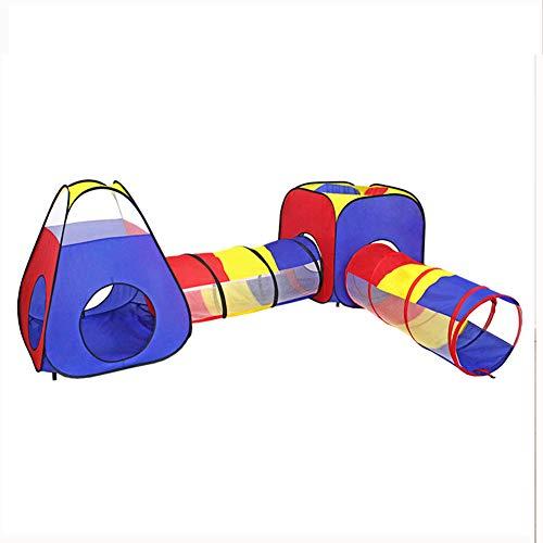 HBIAO Casa de Juegos, Piscina de Bolas, Carpa de Juego y túneles para niños, Carpa de Juego de Gimnasio en la Jungla para niños pequeños, Bolsa de Almacenamiento portátil para Interior y Exterior