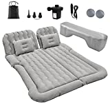 Inflatable Mattress,Car Air Mattress,Car Bed with Electric Pump and 2 Pillows,SUV Air Mattress Car - Flocking & PVC Surface, Car Sleeping Bed for Home, Outdoor Camping and Travel(Grey)