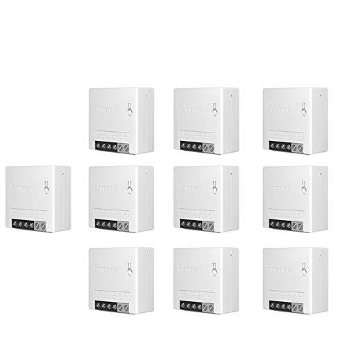 Sonoff Mini DIY-WiFi interruttori WiFi Wireless intelligente bidirezionali, timer, interruttori di luce, moduli di controllo remoto funzionano con Alexa.10pcs