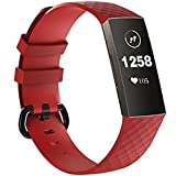 KingAcc Waterproof Charge 4 Bands - Soft and Lightweight Silicone Charge 4/ Charge 3/Charge 3 SE Bands for Women Men, Original Bands Design Large Small Sizes(No Tracker Included)