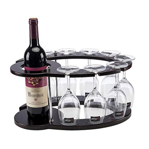 Tokyia Vino Estante de Madera cáliz Rack revés Inicio Vino Estante de Vino Gabinete Decoración para Cocina, Restaurante, Bar, hogar y Cocina dic.