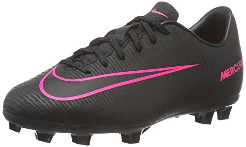 Nike JR MERCURIAL VAPOR XI FG, Unisex-Kinder Fußballschuhe, Schwarz (Schwarz/Schwarz/Pink), 27 EU (9.5 UK)