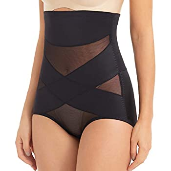 PAUKEE Women Shapewear Slimmer Body Shaper Hi-Waist Tummy Control Compression Butt Lifter Panties Girdle Black