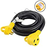 Leisure Cords 15 Ft 30 amp RV Power Extension Cord with LED Power indictor - 30 Amp Male to 30 Amp Female Standard Plug (30 Amp - 15 Foot)