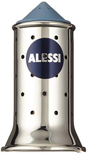 Alessi Salzstreuer, Blau, Edelstahl, 6.5 x 7 x 24 cm