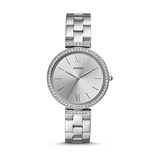 Fossil Damen Analog Quarz Uhr mit Edelstahl Armband ES4539