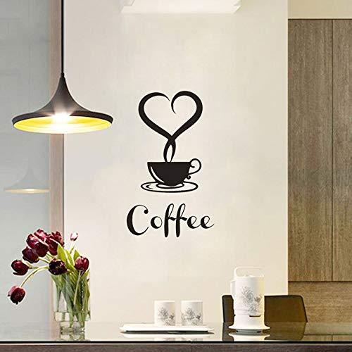 Pegatinas de pared a prueba de agua extraíbles DIY decoración de la cocina taza de café calcomanías taza puerta de vidrio pegatinas de pared A9 34x30cm