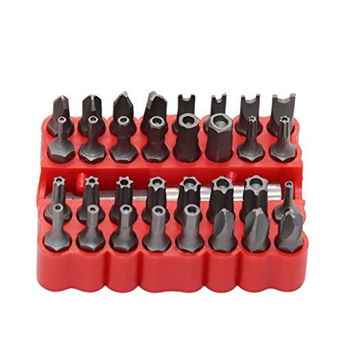 yuyouzhong 33 Piezas/Set Destornillador eléctrico Tornillo de Seguridad Tornillo de Seguridad Hex Cabeza de bit Hollow Tips Tornillo Especial Cabeza