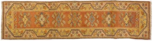 Teppich Läufer Milas Türkei ca. 75 x 235 cm Beige handgeknüpft Schurwolle Klassisch hochwertiger Teppich