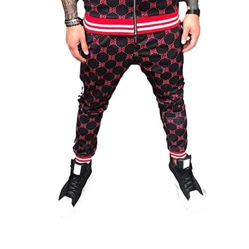 Katenyl Pantalones de Jogging Ajustados de Color contrastante para Hombre, Ropa de Calle a la Moda, Todos los Partidos, Ejercicio, Pantalones Deportivos Informales con pies XXL
