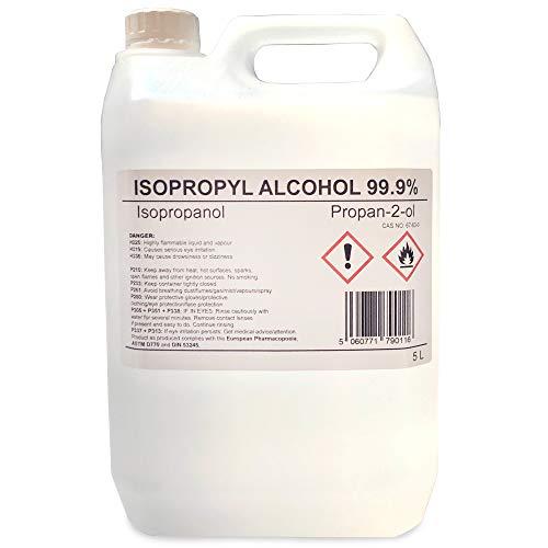 Alcol isopropilico 99,9% isopropanolo puro 5 litri 5L propano 2 oli IPA