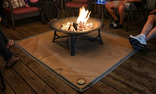 Ember Mat | 67' x 60' | Fire Pit Mat | Grill Mat | Protect Your Deck, Patio, Lawn or Campsite from...