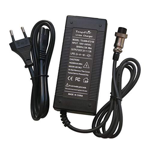 pequeño y compacto Cargador de bicicleta eléctrico para TangsFire 67,2 V 1,5 A 60 V 16 S 57,6 V Ion de litio 59 V 59 V 59 V 60 V…