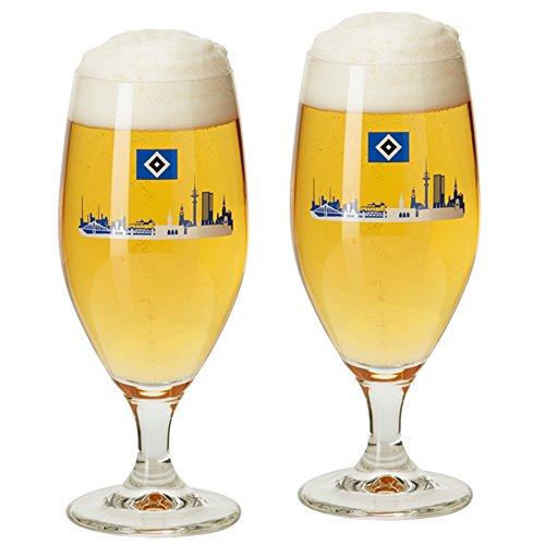 2er Set Biertulpe Biergläser Bierglas Glas Hamburger SV HSV