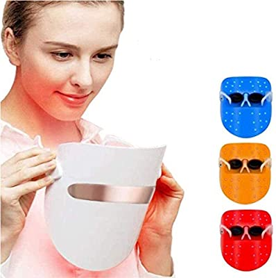 Light Therapy Face Mask LED Photon Therapy Lamp Device Spectral Skin Rejuvenation Skin Whitening Firming Mask Acne Treatment Anti-Wrinkle Face Skin Care Individual Lights of Red/Blue/Orange by Nitoer