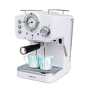 IKOHS THERA Retro – Cafetera Express para Espresso y Cappucino, 1100W,