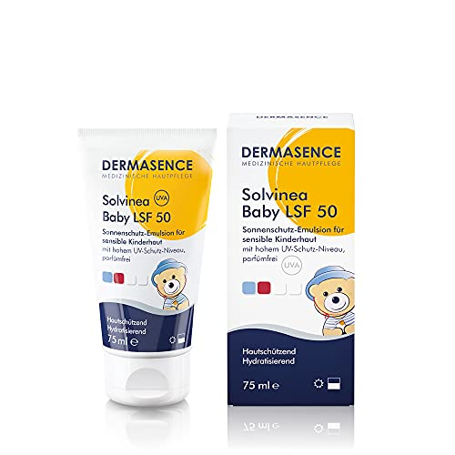 DERMASENCE Solvinea Baby LSF 50 - hoher Schutz für sonnenempfindliche Kinderhaut, empfohlen für Neurodermitiker - 75 ml
