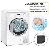SNAGAROG 20 Stück Anti-Vibrations-Pads Waschmaschinenunterlage Antivibrationsmatte Gummischutzmatte Gummi Stille Füße Pads für Waschmaschinen, Trocknern, Kühlschränken (7,7 * 7,7 * 0,5) - 3