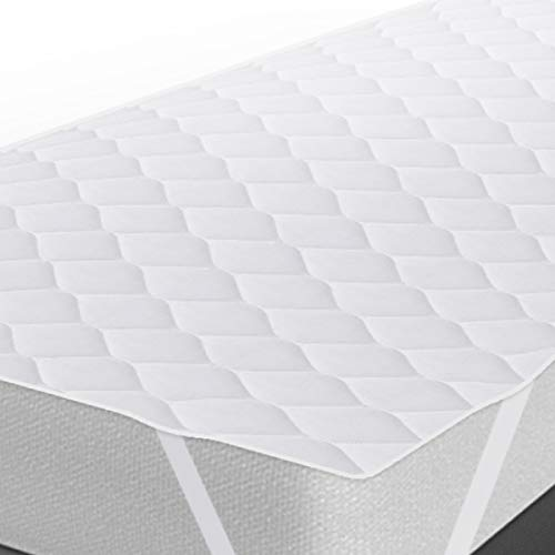 """Fabugears Quilted Mattress Pad   30"""" x 75"""" Cot Size Portable Plush Mattress Protector Cover with Elastic Straps for Folding Bed, Air, Camping, Guest Beds, RV Bunks, Army Cots, Day Care, Glamping"""