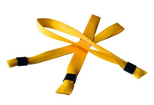 20 x Festivalbänder aus Stoff - mit Plastik-Schiebeverschluss - neue Modefarben! (mango mojito)