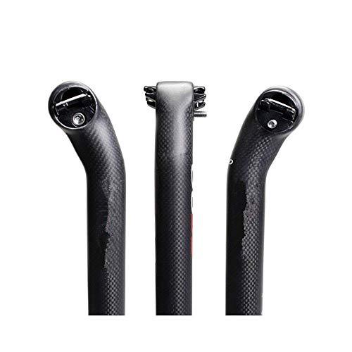 BXU-BG Mensajes de seguridad MTB con suspensión de poste de asiento de 5 °/20 ° después del tubo de fibra de carbono, negro 5°, 30,8 – 400 mm (color: negro 5°, tamaño: 30,8400 mm)