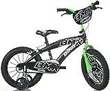 "Dino Bikes Bicicletta BMX 16"" Nero-Verde - Bici Bambino"