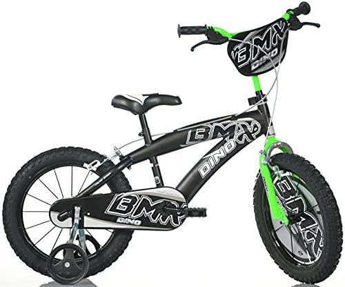 Dino Bikes Bicicletta BMX 16' Nero-Verde - Bici Bambino