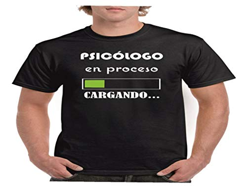Camisetas divertidas Child psicologo en Proceso. Cargando. - para Hombre Camisetas Talla Medium Color Negro