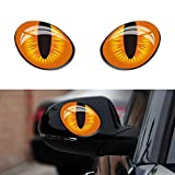 Baost 1 Pair Cartoon Cat Eyes Car Stickers 3D Car Auto Rear View Mirror Windows Stickers Waterproof Self-Adhesive Car Rearview Mirror Reflective Decals for Laptop Toilet Truck 10x8cm