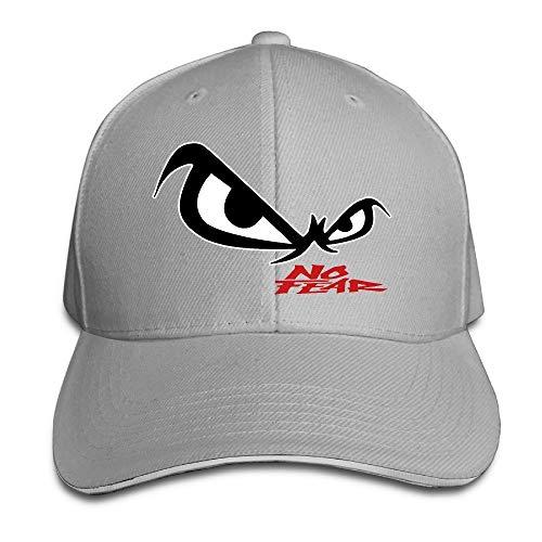 YVES Unisex No Fear Owl's Eyes Sandwich Baseball Cap Ash