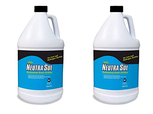 Neutra Sul HP41N Professional Grade Oxidizer, Neutralize Rotten Egg Smells and Pollutants, 1 Gallon (Two Pack)