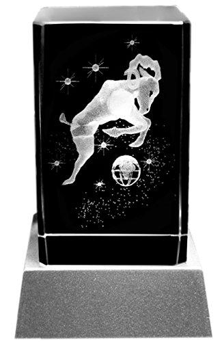 Kaltner Präsente Sfeerlicht - een heel bijzonder cadeau: led-kaars/kristalglazen blok/3D-lasergravure sterrenbeeld raam