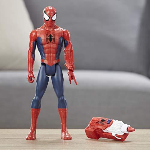 Boneco Titan Homem Aranha Power Fx 2.0, Spider-Man, E3552, Vermelho/Azul